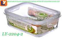 hot selling heatproof glass lunch-box,glass food storage,glass food container