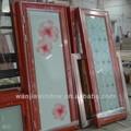 wanjia bom preço decorativa de alumínio portas de vidro interior