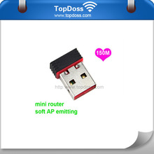 2.4GHz 802.11n wifi 150mbps mini wireless usb adapter