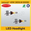 High quality led headlight 40w 3800LM toyota prado headlights
