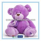 Custom handmade stuffed plush toy bear purple