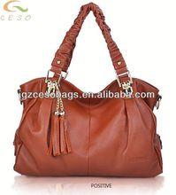 latest Korean fashion brand women handbag,cowhide handbag