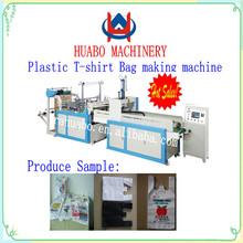 China plastic bag handle attaching machine