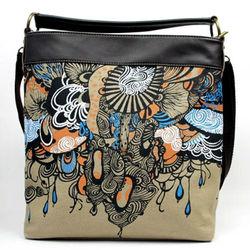 Brown Unique Canvas Tote Bag