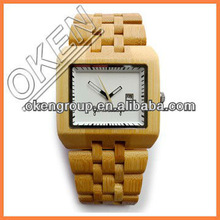 Handcrafted Bamboo Wrist Watch,100% All Natural Bamboo