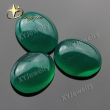 Oval Cabochon Natural Dyed Green Agate Gemstone