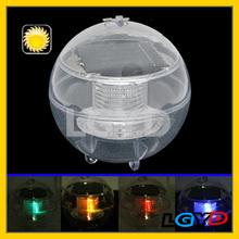 Best seller Transparent Ball Shape Solar Powered Night Colorful Light Lamp