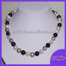 11-12mm Potato shape antique pearl necklace