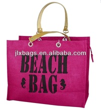 Ladies tote messenger jute and linen bag manufacturer in China