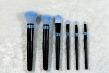 6 pcs makeup brush set private label crystal purple blush cosmetic tool kits travel brush set