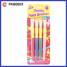 4PK Blister Card Pack Cheap Paint Brushes