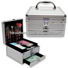 Metal handle small aluminum beauty case RZ-LCO036