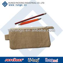 recycled cheap small zipper gunny/jute/linen pouch