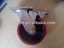 High Capacity hard rubber fixed caster wheel