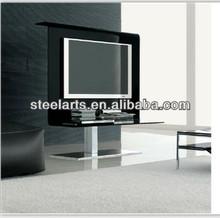 Steel-arts glass tv stand livingroom furniture V501B
