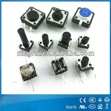 Various dimension of UL/VDE/ENEC/ROSH approved high quality 2 pin 4 pin electronic momentary micro smd tact switch 50mA 12V
