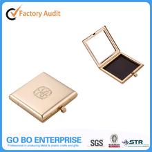 Metal golden makeup powder refill case