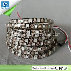 DC5V WS2812B black pcb board 5050RGB led strip light