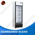 Solo& refrigerador de doble puerta de pie para la exhibición