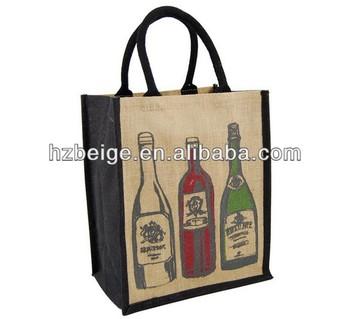 China jute tote bags wholesale jute wine bag china