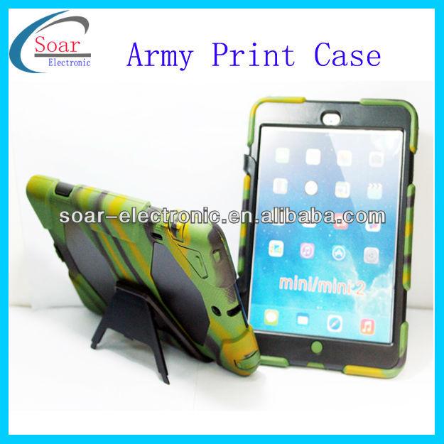 hot selling camo design stand case for ipad mini 2