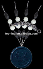 Aliexpress sale fishing Swivel with pearl beads and rubber stopper