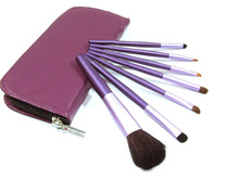 face make up 7pcs purple synthetic hair makeup brush