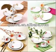 white porcelain dinnerware sets,commercial dinnerware set,customized dinnerware sets