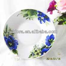factory directly sale chinese porcelain plates,porcelain round flat plate
