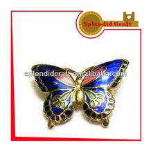 Butterfly shape cloisonne lapel pin