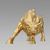 Bronze Bull Statues Gild Bull Bronze Sculpture Large Street Decoration Bull Animal Bronze Sculpture