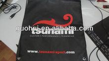 Promotional black non woven drawstring bag,non woven drawstring shoe bag