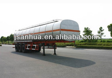 Twin-axle 30000 Litres 304 Stainless Steel Fuel Transport Tanker Trailer Truck For Sale