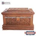 de alta calidad tallada a mano caja de madera con el logo del cliente