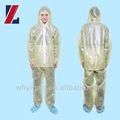 Dupont tyvek de proteção material reforçado descartável branco cores macacão