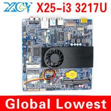 Low power low heat!!! XCY X25-I3 Micro mini main board, motherboard mini itx, Intel core i3 mini motherboard