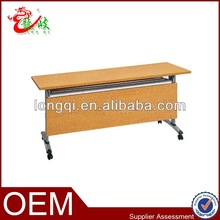 economy steel flipper table with wood grain finish M230