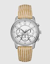 Vogue big case three eyes ladies genuine leather watch