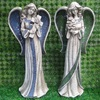 2014 polyresin garden decorative big fairy with mosaic wing sculptures