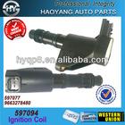 Auto parts--for CITROEN/PEUGEOT auto genuine denso ignition coil OE NO.:597094,597077,9663278480