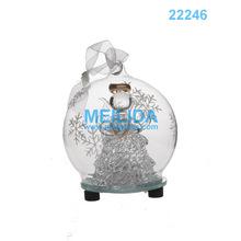 Glass christmas ball with led light