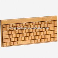 Natural high quality usb bamboo keyboard