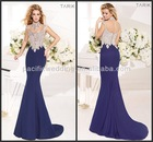TZ-05 2014 Crazy Hot!! New Fashion Sexy Top Quality Mermaid Beaded Crystal Floor Length Tarik Ediz Evening Dresses