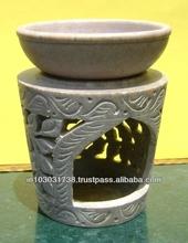 Designer Soapstone Aroma Oil Burner Air Freshener Lamp