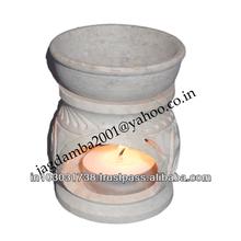 Soap stone Incense Oil Burner ~ Aroma Diffuser ~Aroma Lamp ~ Air Freshener Oil Burners~ Oil Lamps -2