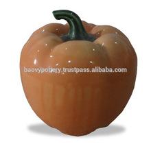 Halloween decorative pumpkin ceramic, Decorative pumpkin ceramic halloween,pumpkin ceramic glaze jar