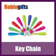 Debossed silicone bracelet lanyard keychain