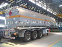 Competative Price Three Axles 35CBM Oil Trailer Tanker Truck For Sale