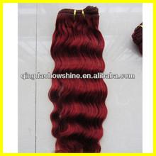 2014 top fashion hot sale stock brazilian hair remy hair weaving 99j
