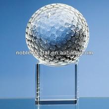 Noble Custom Made Optical Crystal Golf Ball on Clear Base
